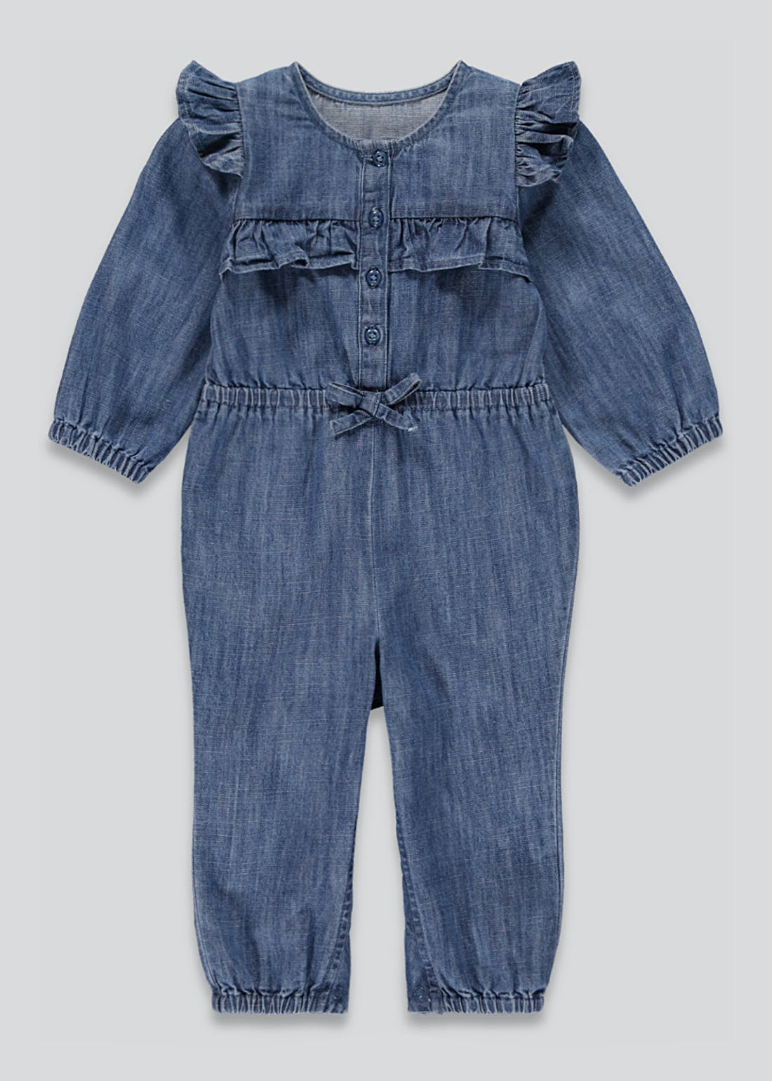 Girls Denim Frill Jumpsuit (9mths-6yrs)