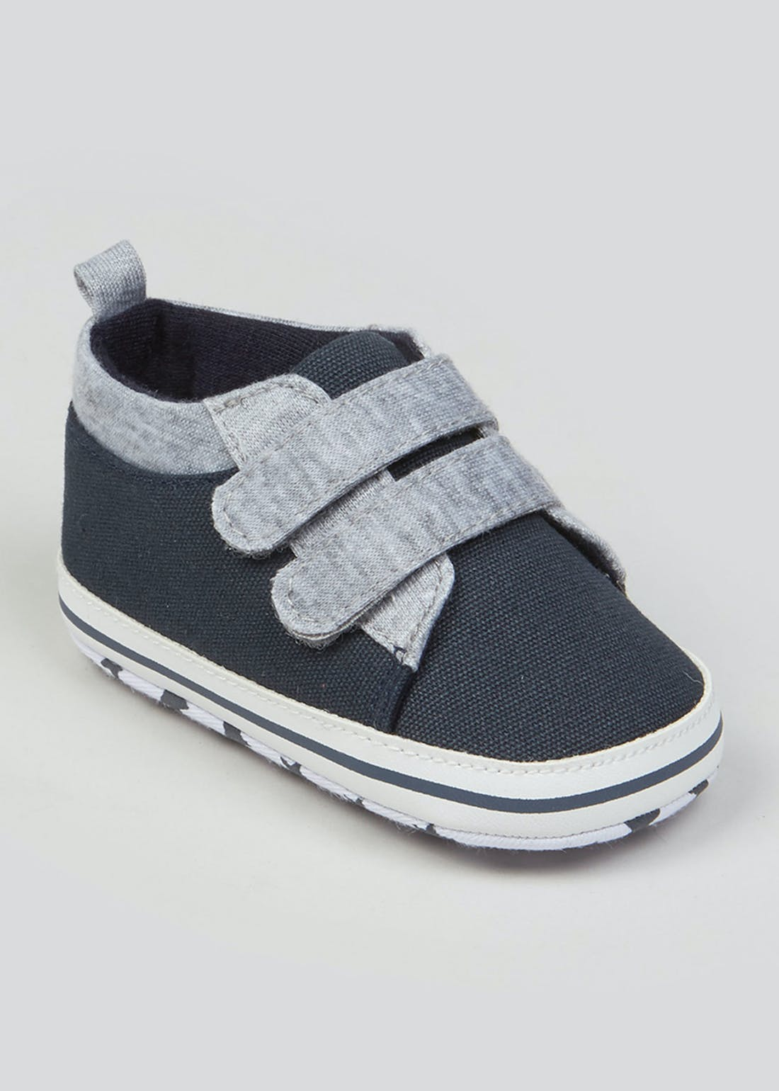 Unisex Navy Soft Sole Baby Trainers (Newborn-18mths)