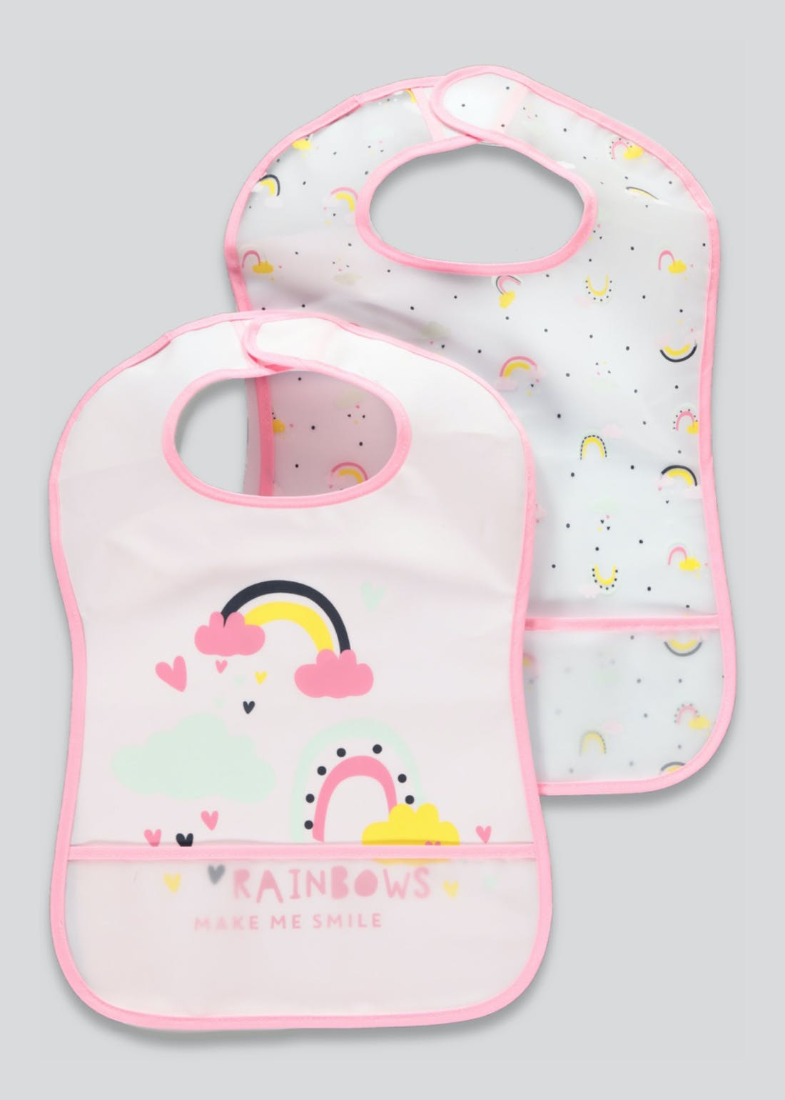 2 Pack Rainbow Bibs (One Size)