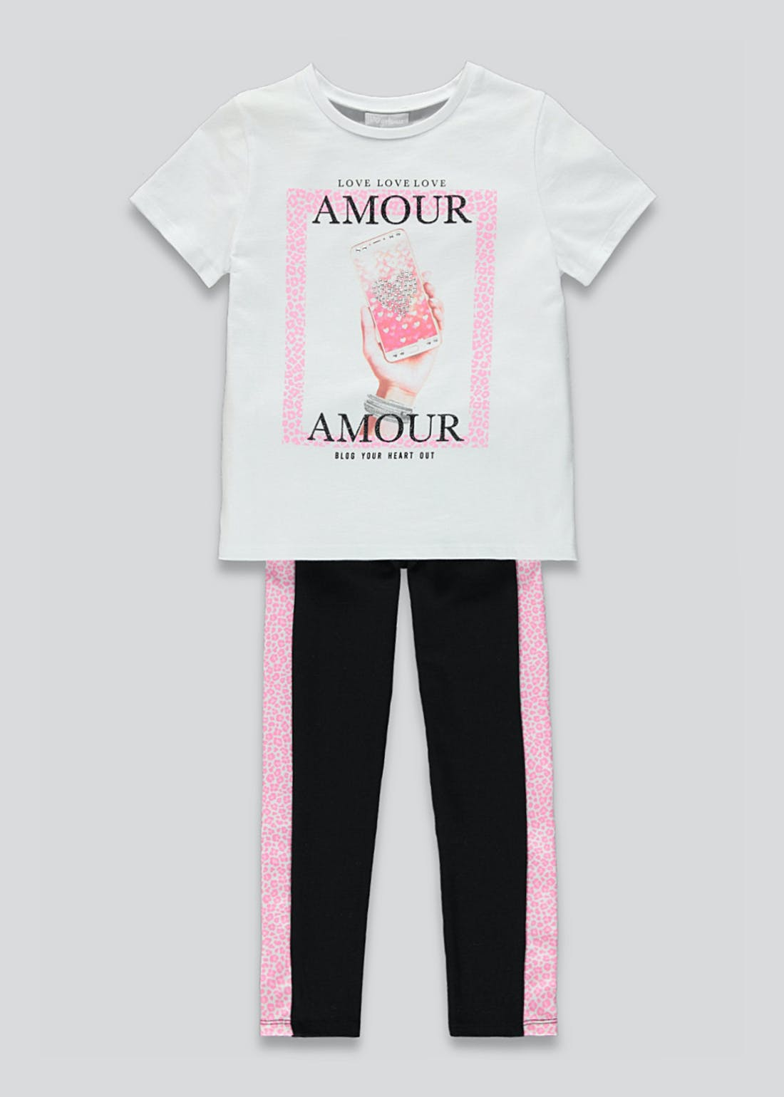 Girls T-Shirt & Leggings Set (4-13yrs)