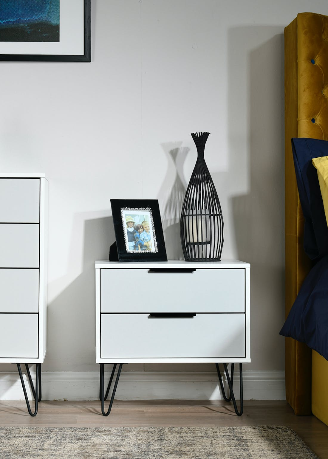 Swift Milano 2 Drawer Bedside Table (57cm x 45cm x 39.5cm)