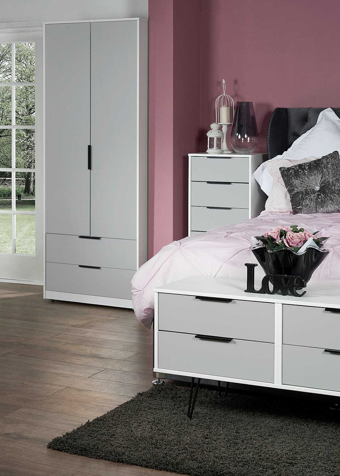 Swift Milano 4 Drawer End of Bed Chest (50.5cm x 112cm x 41.5cm)