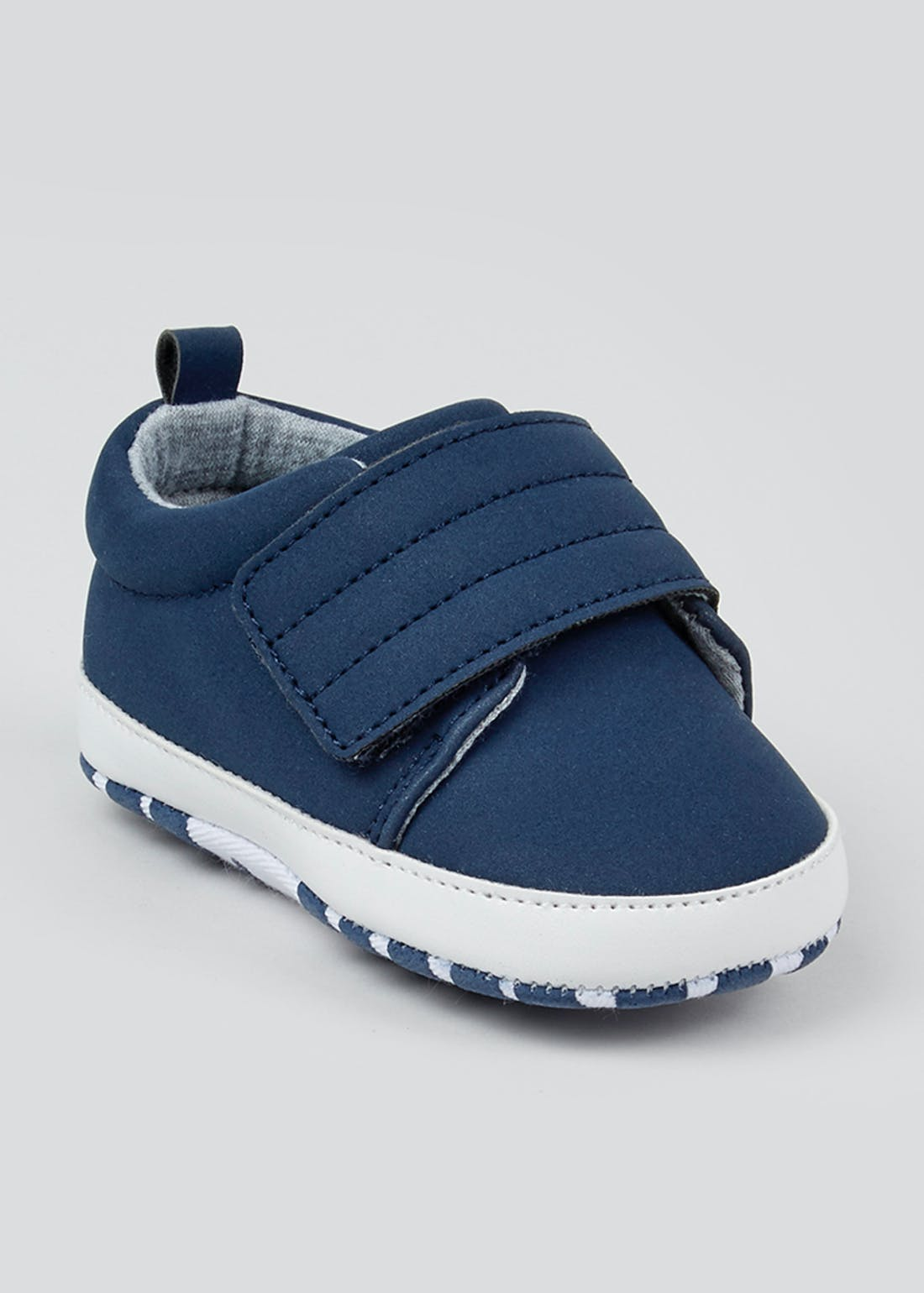 Boys Navy Soft Sole Trainers (Newborn-18mths)