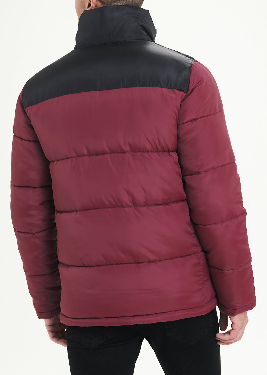 Burgundy Hooded Puffer Jacket