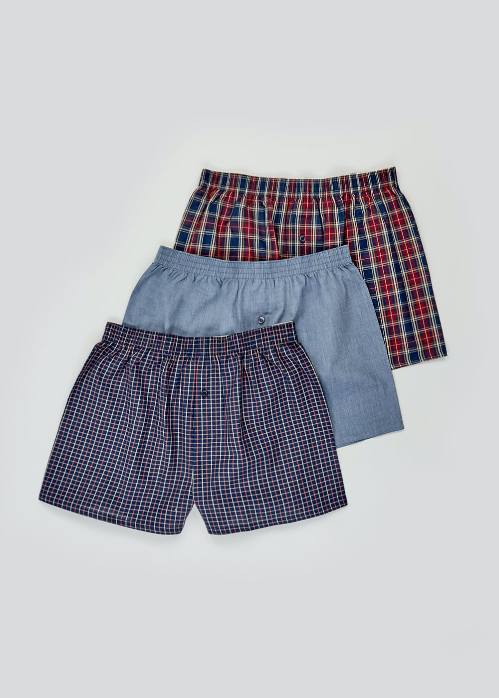 3 Pack Woven Boxers – Multi