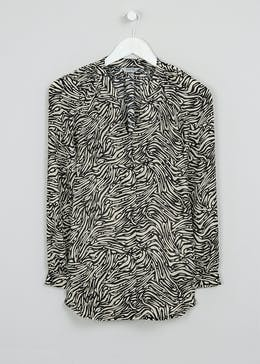 Soon Zebra Print Tunic Blouse