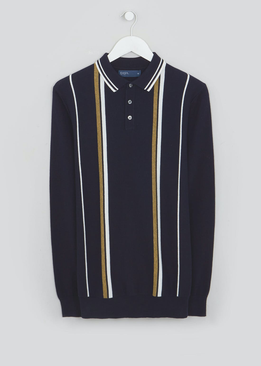 Stripe Knitted Polo Shirt