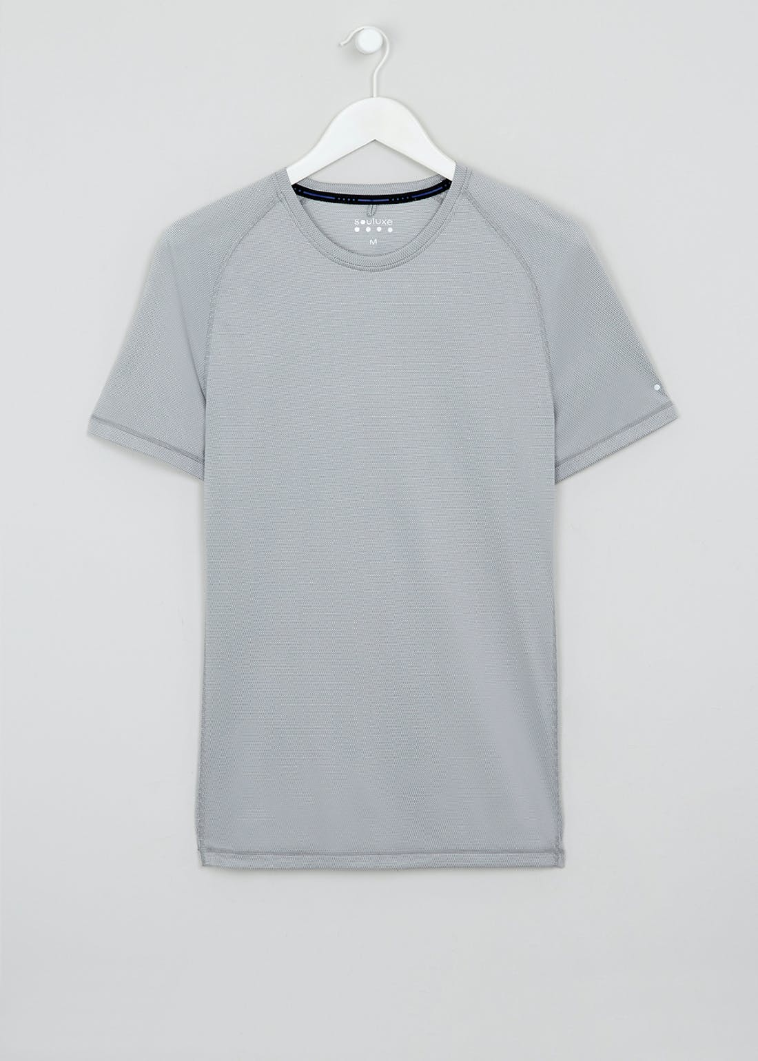 Souluxe Textured Grey Basic Gym Top