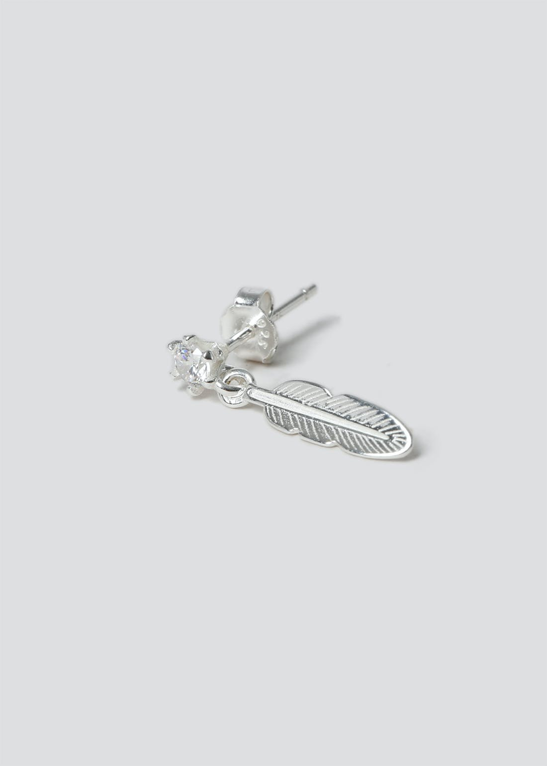 Sterling Silver Feather Helix Earring