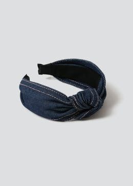 Denim Knot Headband