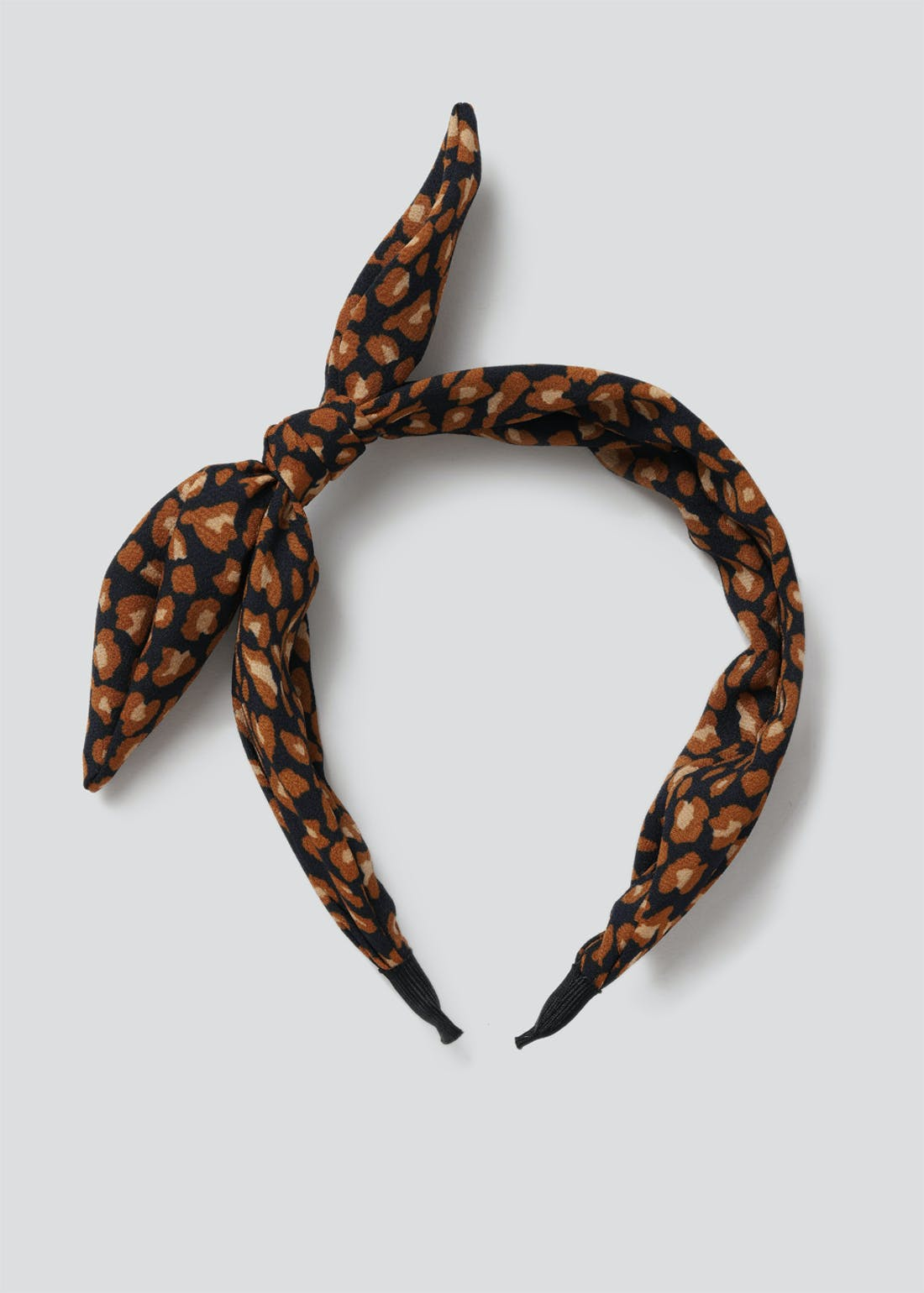Leopard Bow Alice Band.