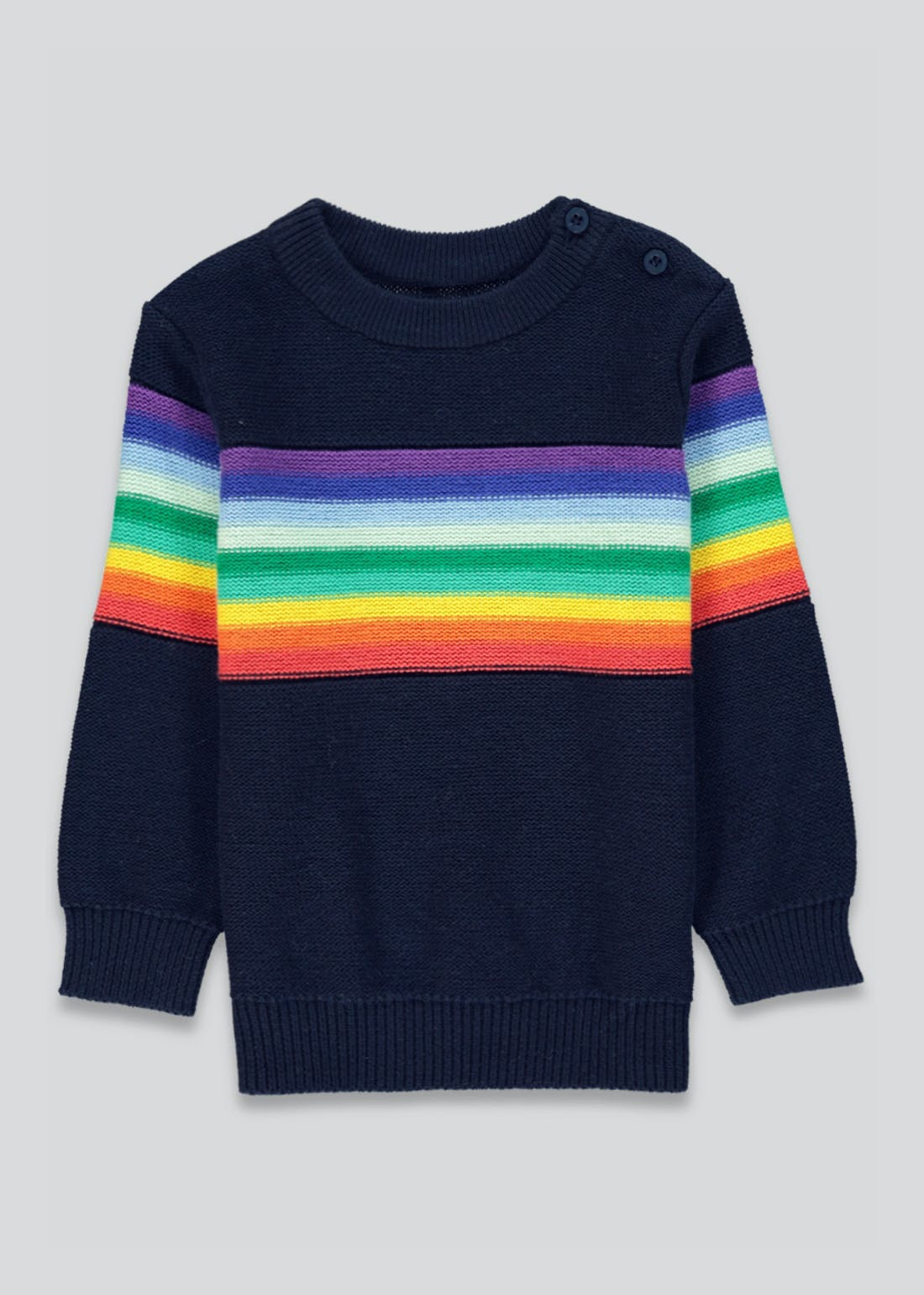 Unisex Rainbow Stripe Jumper (9mths-6yrs)