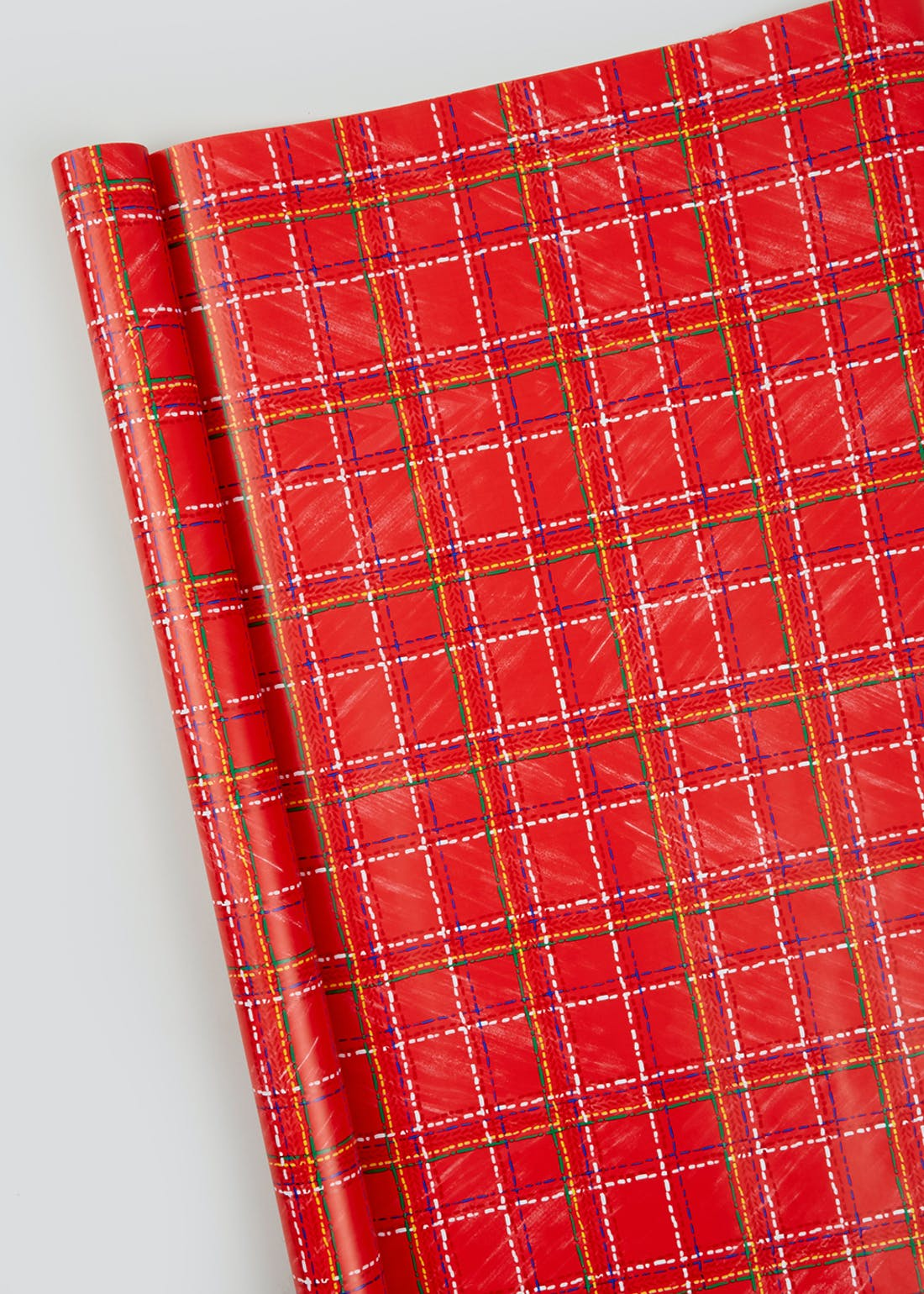 Tartan Check Christmas Wrapping Paper (3m)