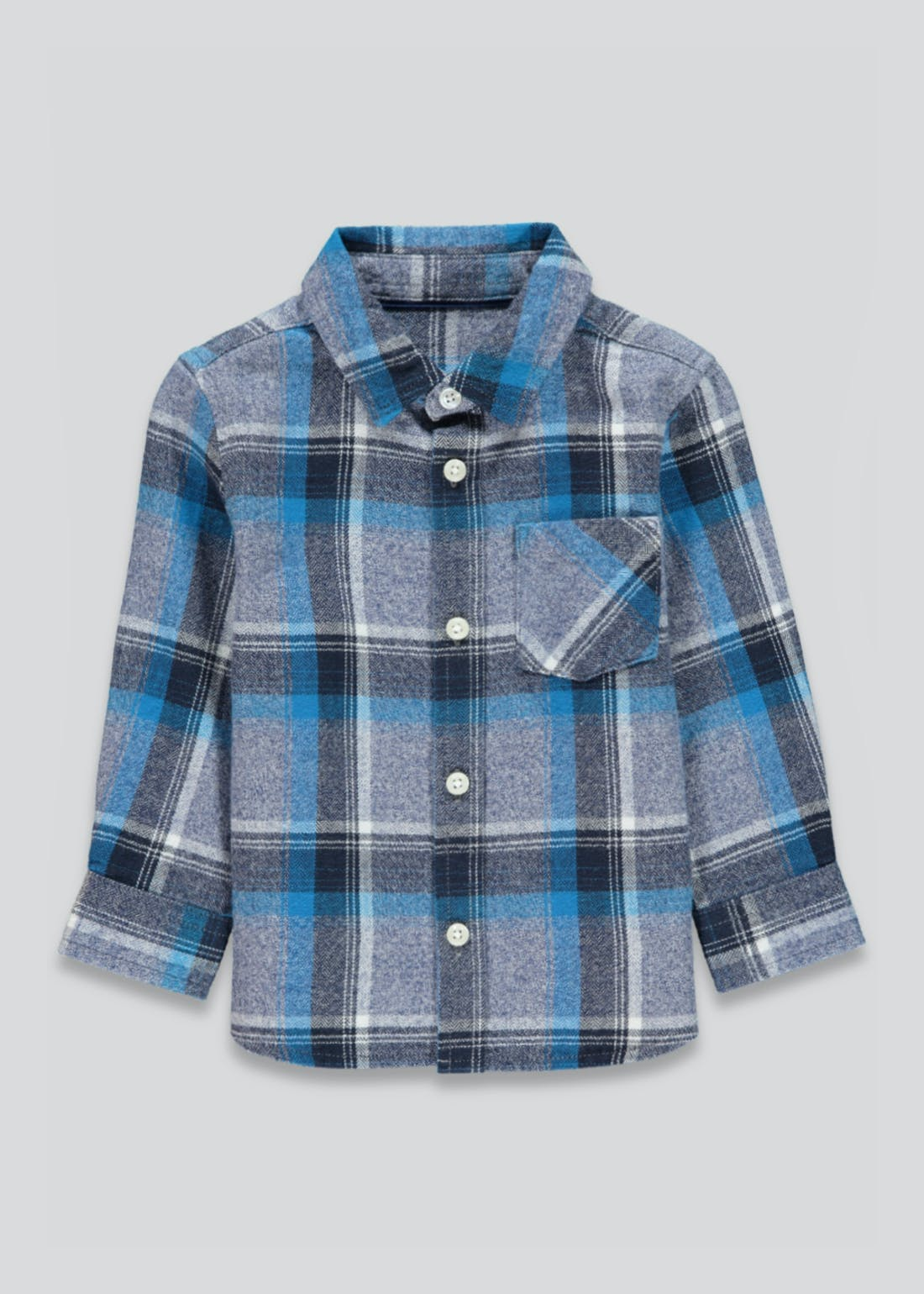 Boys Long Sleeve Brushed Check Shirt (9mths-4yrs)
