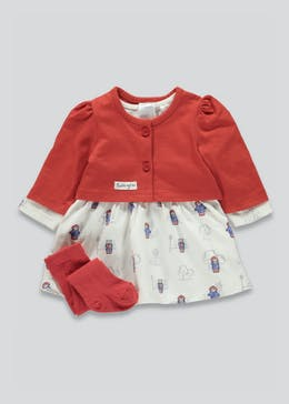 Girls Paddington Bear Dress Set (Newborn-18mths)