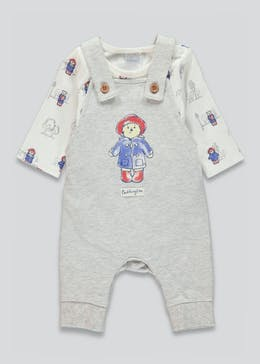 Unisex Paddington Bear Dungaree Set (Newborn-12mths)
