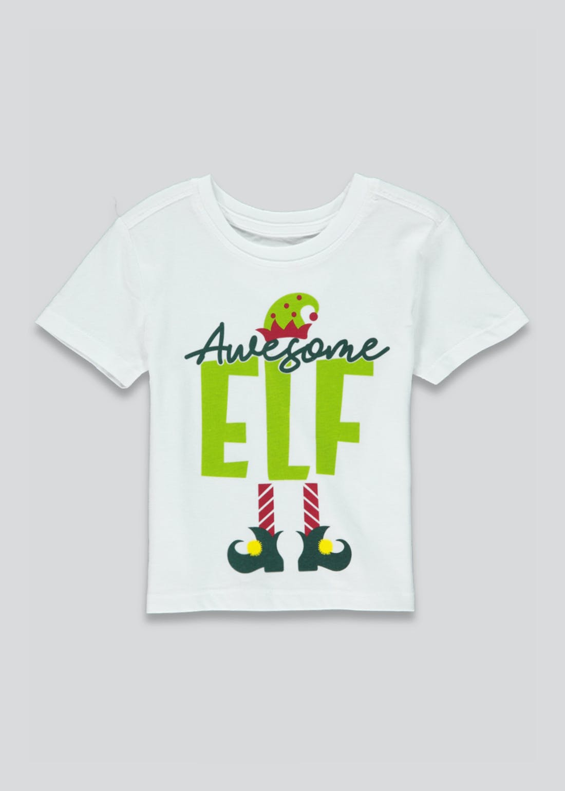 Unisex Awesome Elf Family Christmas T-Shirt (9mths-10yrs)