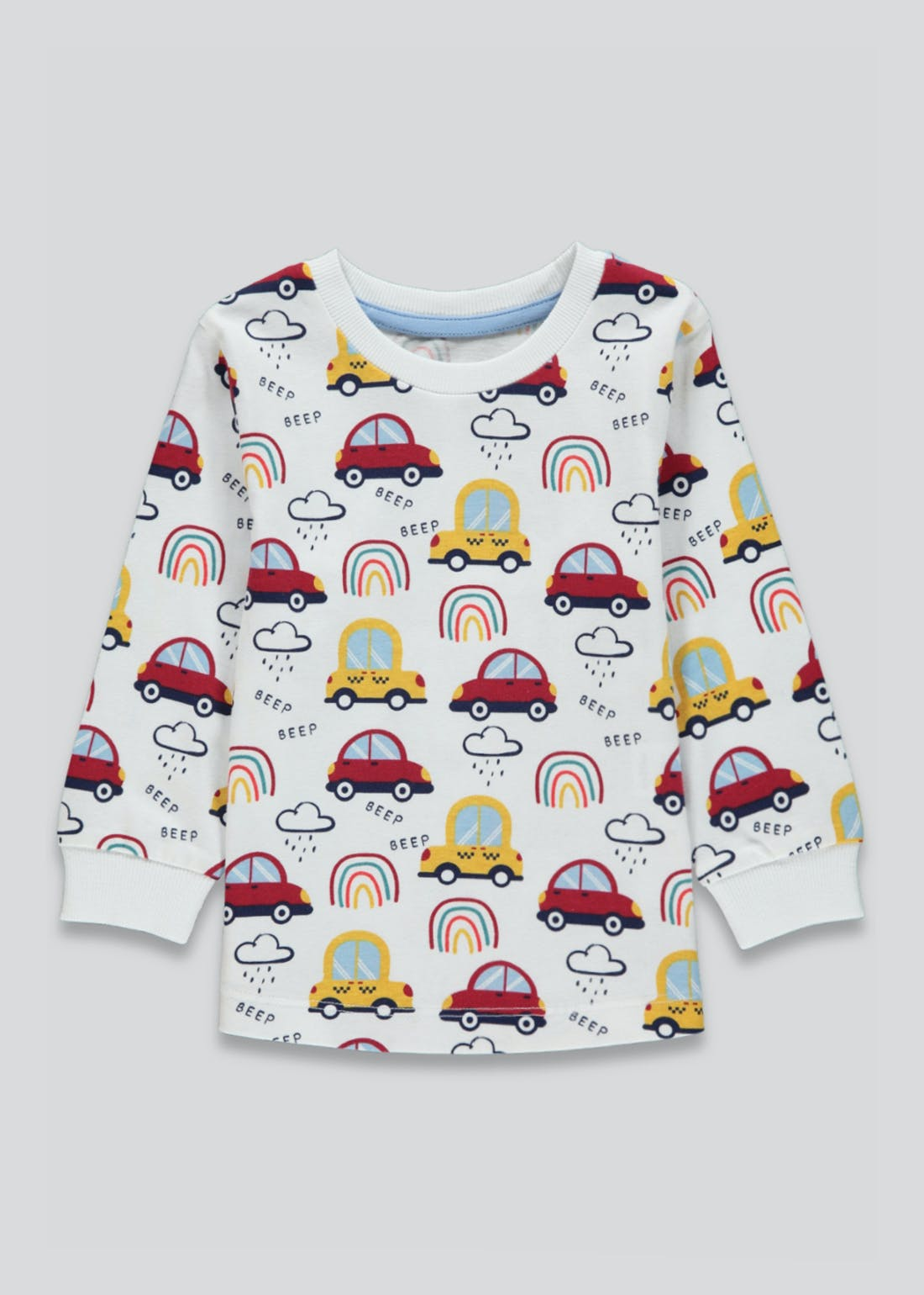 Kids Rainbow & Car Long Sleeve T-Shirt(9mths-6yrs)