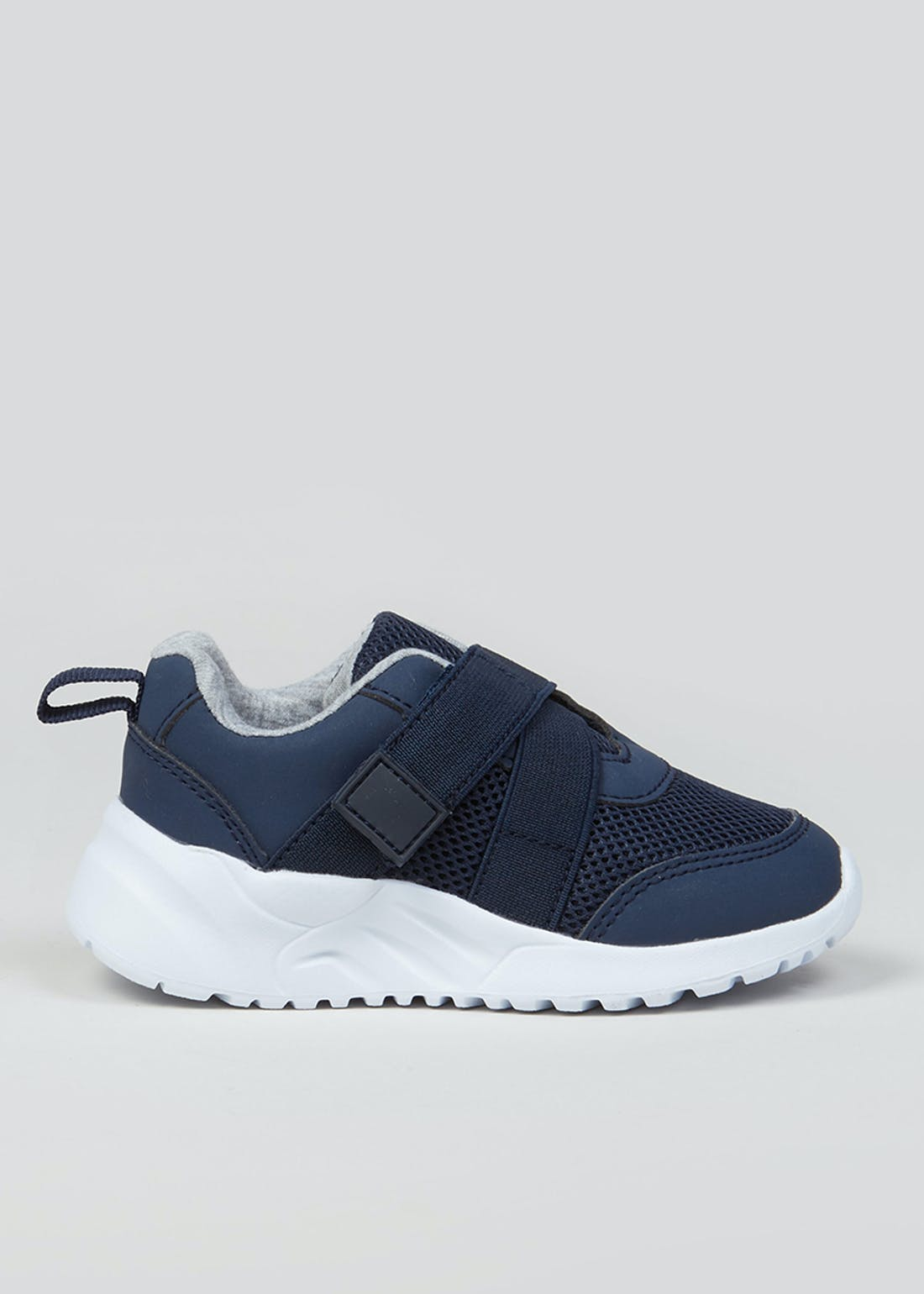 Kids Navy Elasticated Trainers (Younger 4-12)