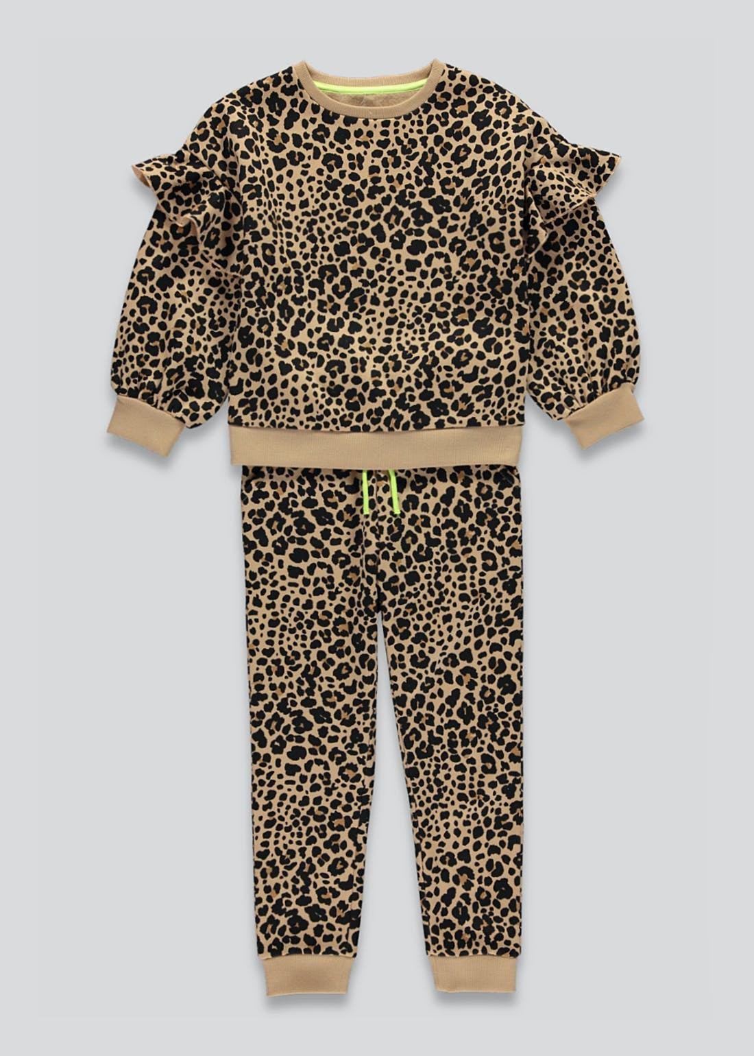 Girls Leopard Print Sweatshirt & Joggers Set (4-13yrs)
