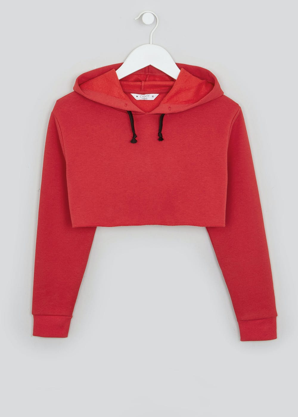 Girls Candy Couture Extreme Cropped Hoodie (9-16yrs) – Red