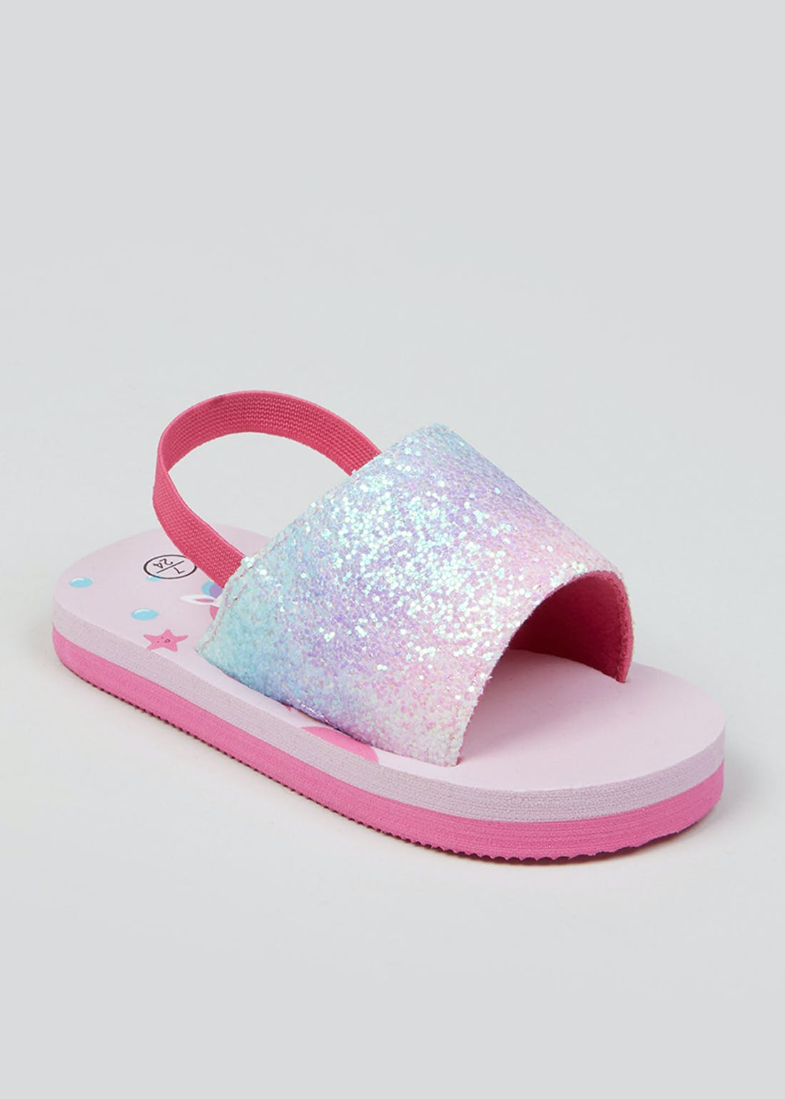 Girls Pink Unicorn Sliders (Younger 4-12)