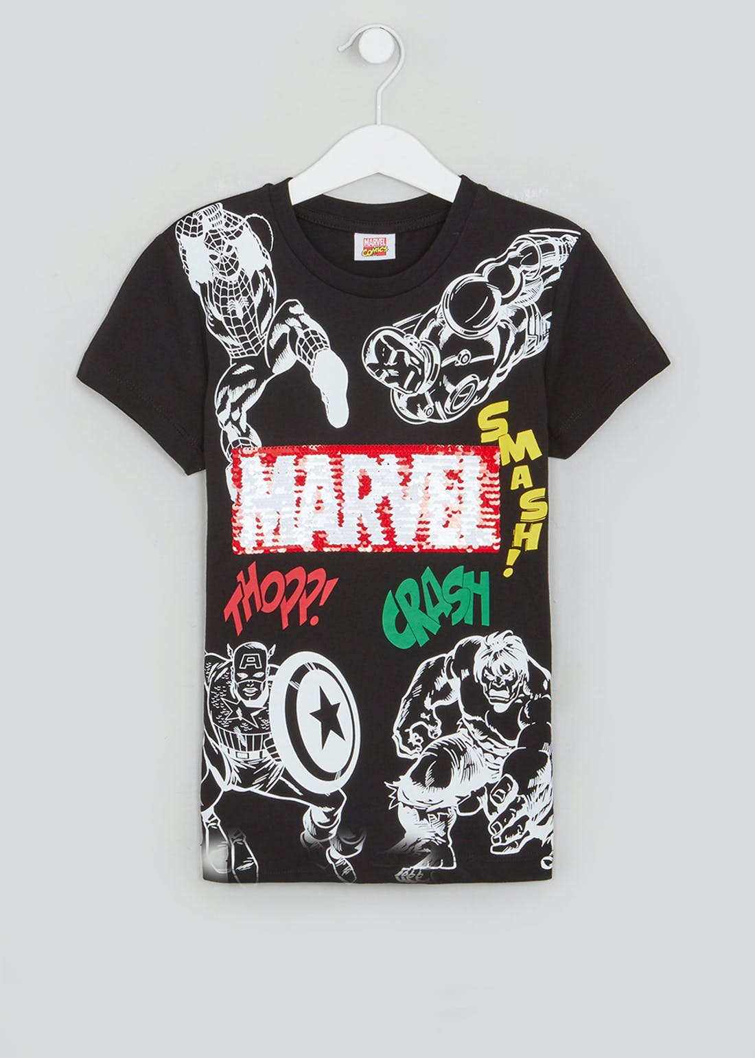 Kids Marvel Two Way Sequin T-Shirt (3-9yrs)