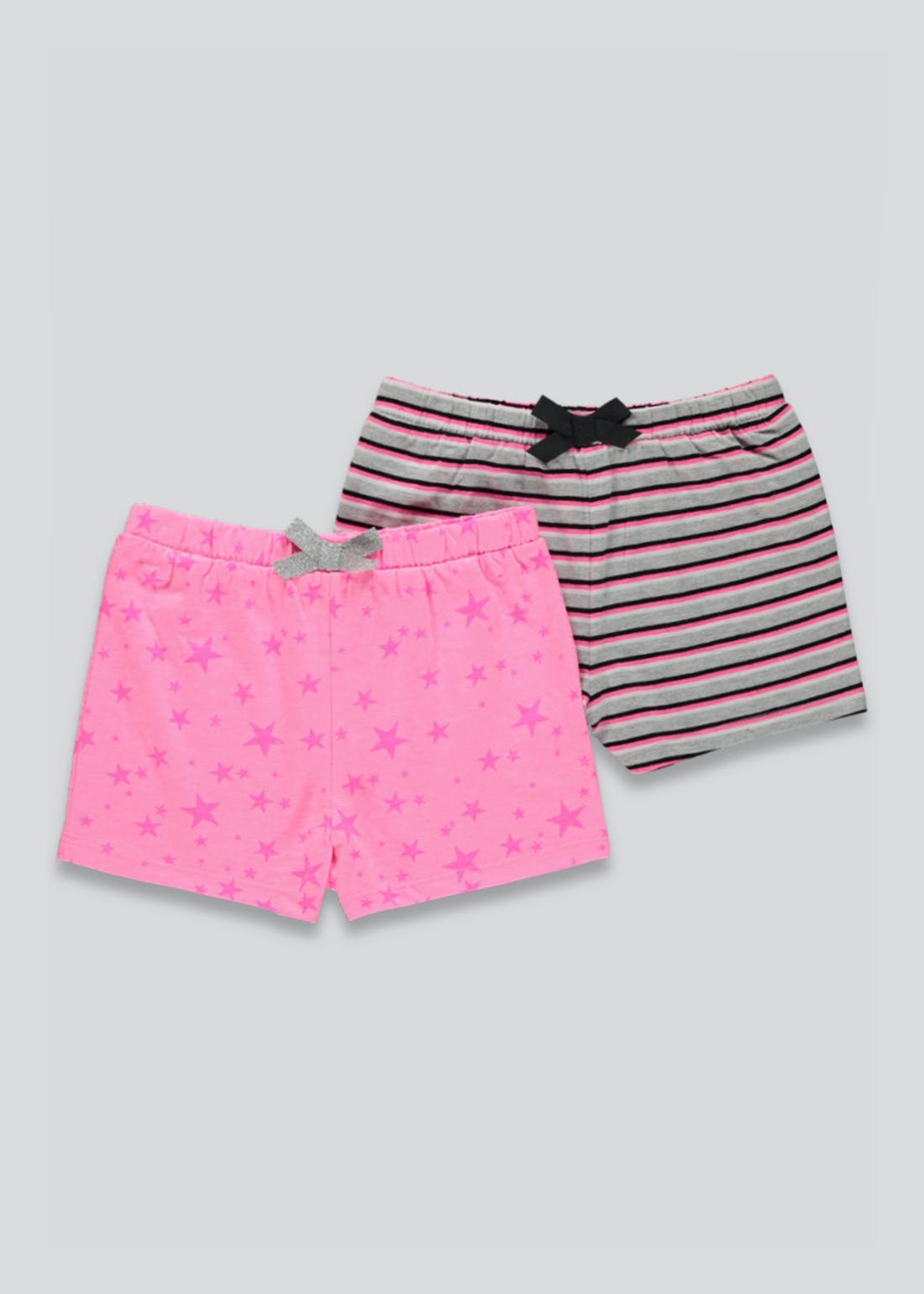 Girls 2 Pack Jersey Shorts (4-13yrs)