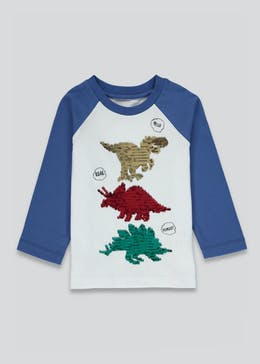 Kids Dinosaur Two Way Sequin T-Shirt (9mths-6yrs)