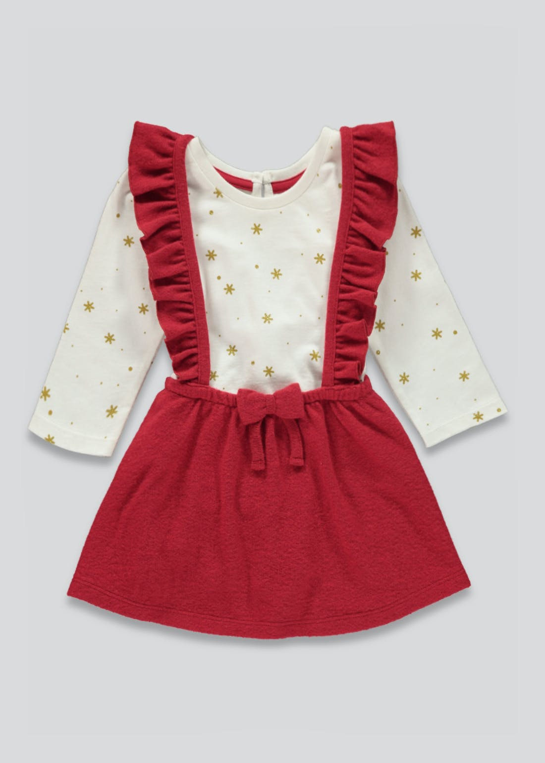 Girls Pinafore Dress and Top Set (Tiny Baby-23mths)