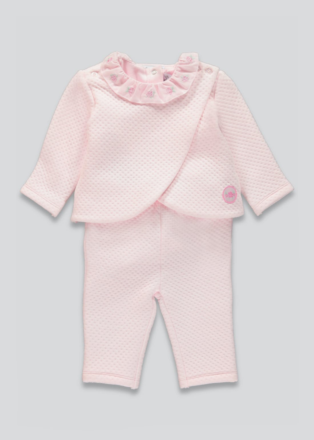 Girls 3 Piece Quilted Set (Tiny Baby-9mths)