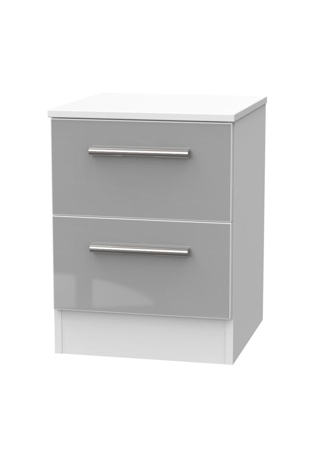 Swift Prague 2 Drawer Bedside Table (50.5cm x 39.5cm x 41.5cm)