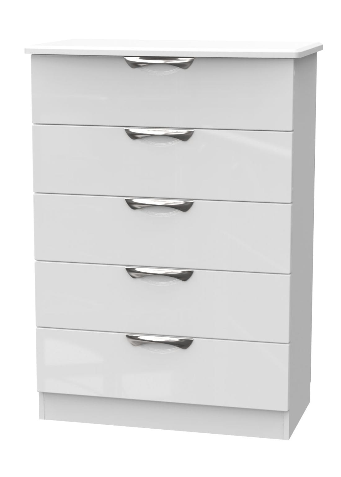 Swift Bordeaux 5 Drawer Chest (107.5cm x 76.5cm x 41.5cm)