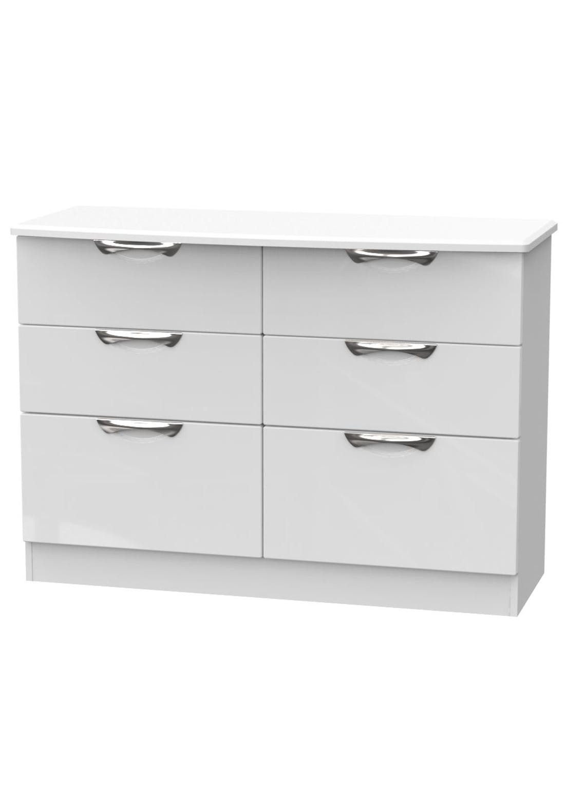 Swift Bordeaux 6 Drawer Wide Chest (78.8cm x 112cm x 41.5cm)