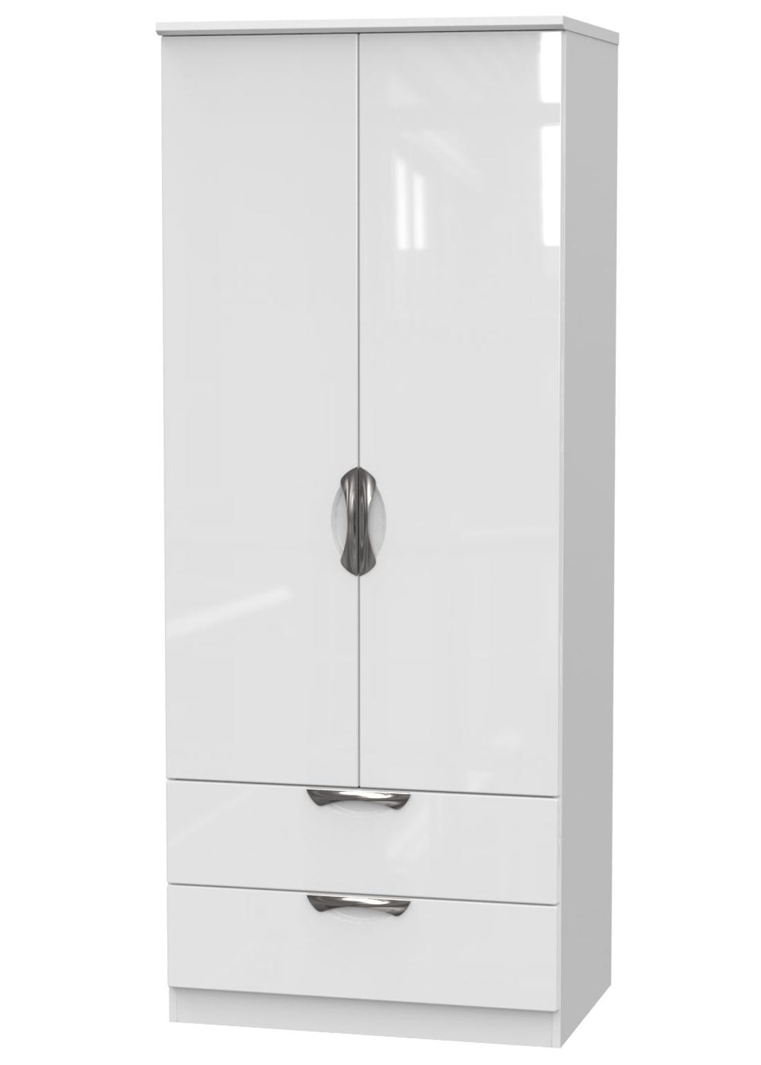 Swift Bordeaux 2 Door 2 Drawer Wardrobe (182.5cm x 74cm x 53cm)
