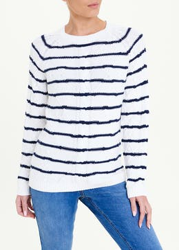 Stripe Button Front Jumper