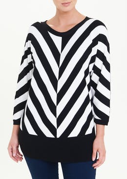 Soon Monochrome Stripe Jumper
