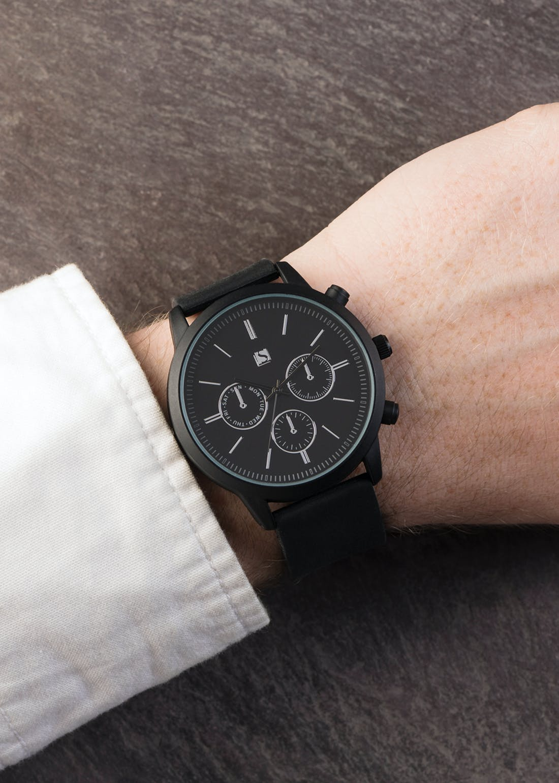 Spirit Analogue Watch with Black Rubber Strap