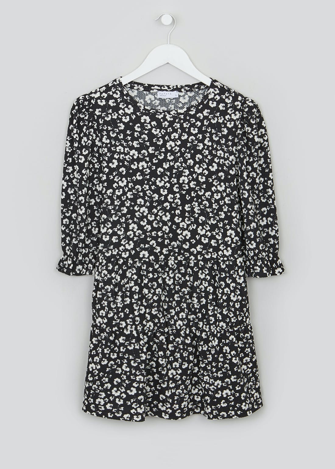 Floral Textured Tunic Top
