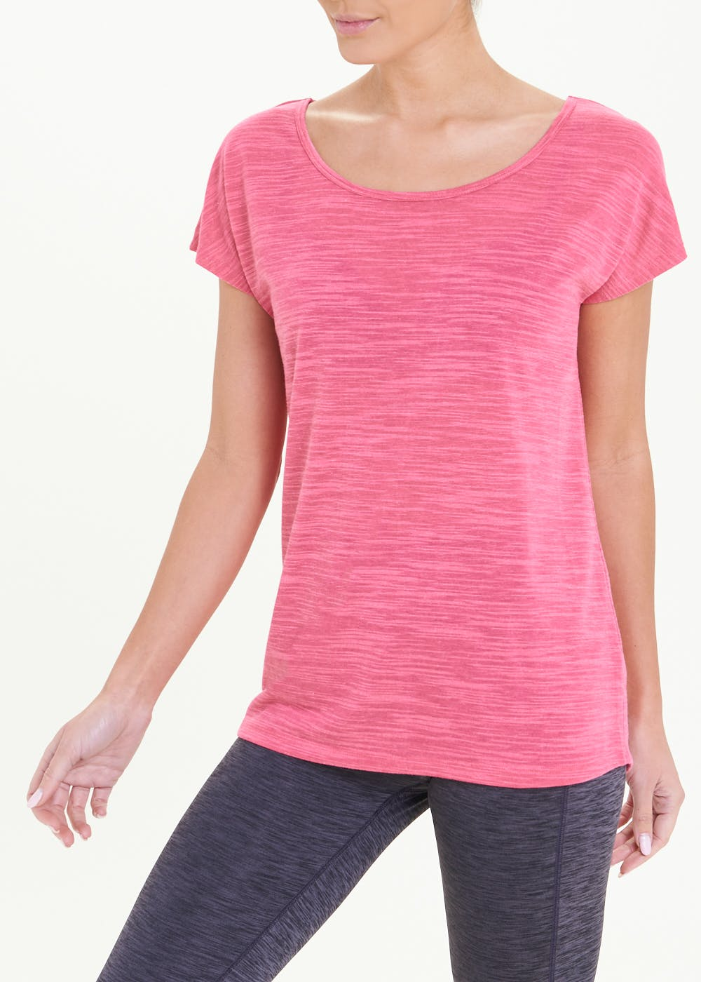 Souluxe Pink Cross Back Gym T-Shirt – Pink