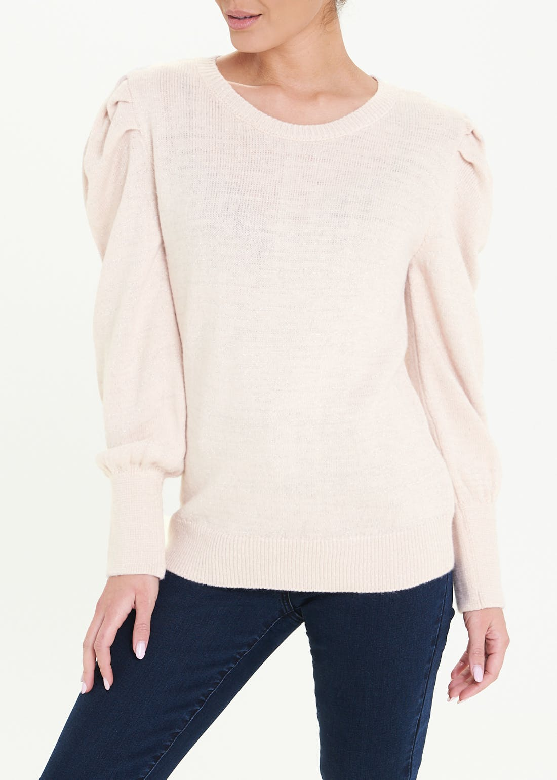 Sparkle Puff Sleeve Jumper