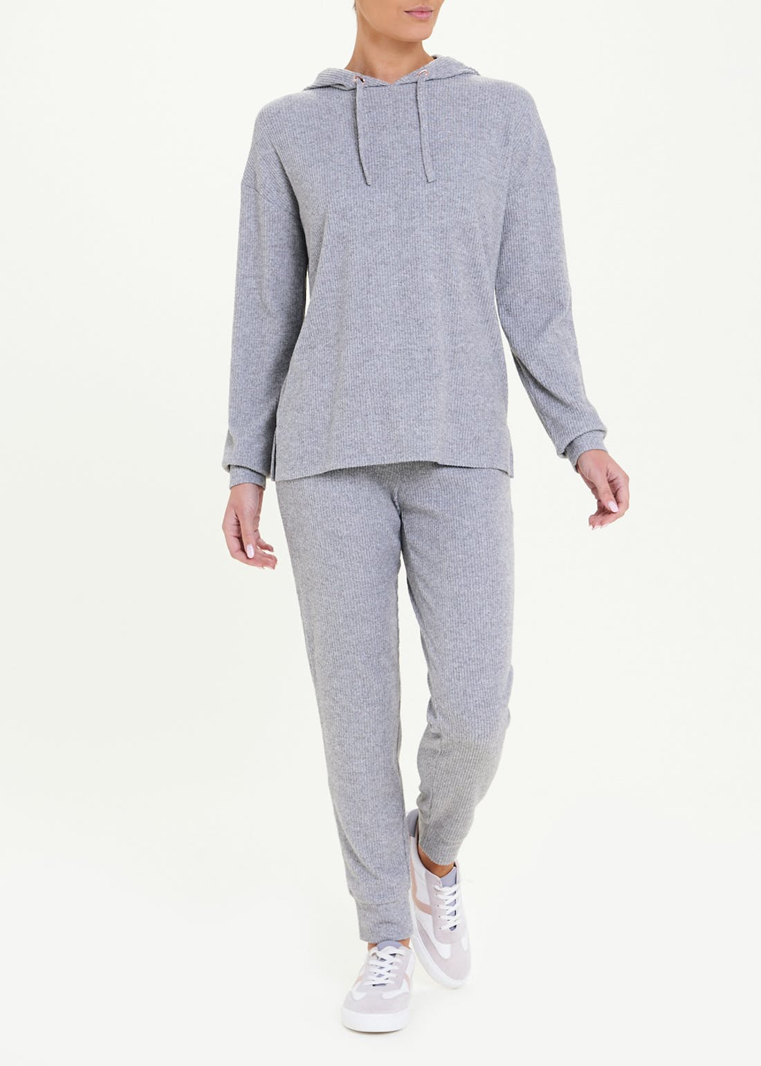 Ribbed Soft Touch Hoodie