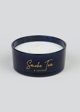 Elegance Smoke Tea & Leather Scented Candle (16cm x 7.5cm)