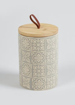 Small Tile Print Kitchen Cannister