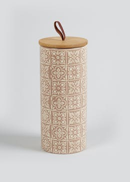 Tall Tile Print Kitchen Canister