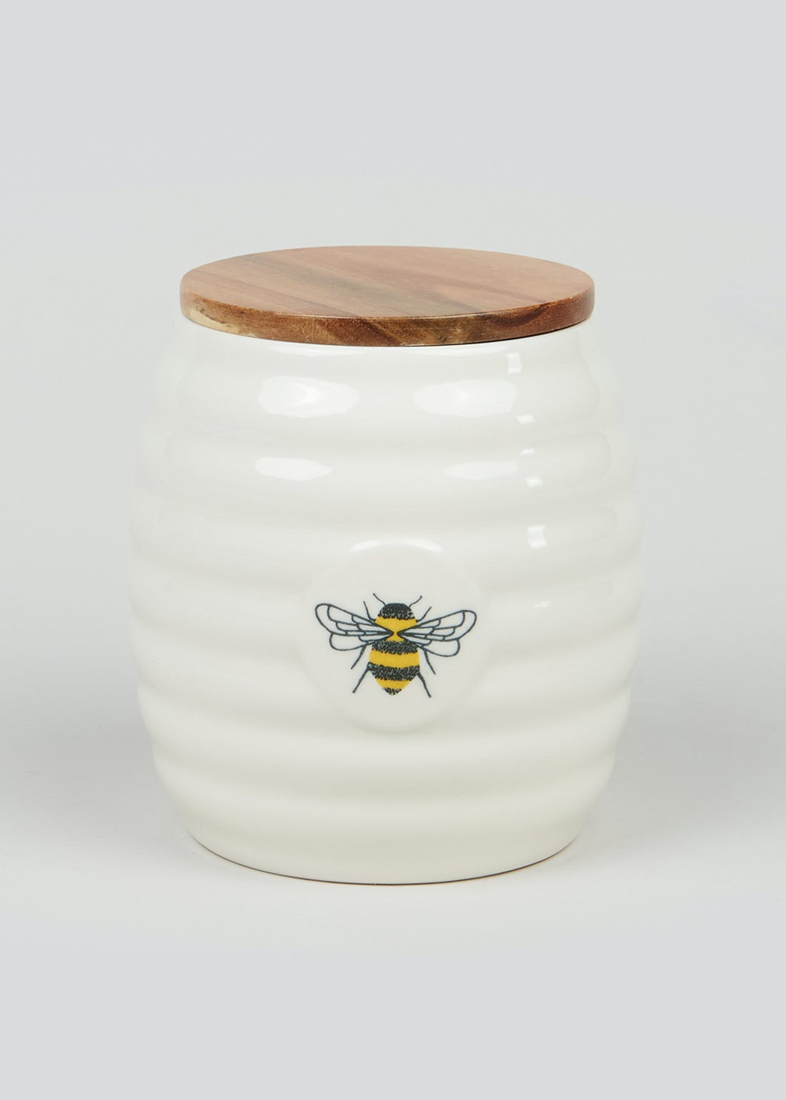 Bee Print Kitchen Canister (14cm x 13cm x 13cm)