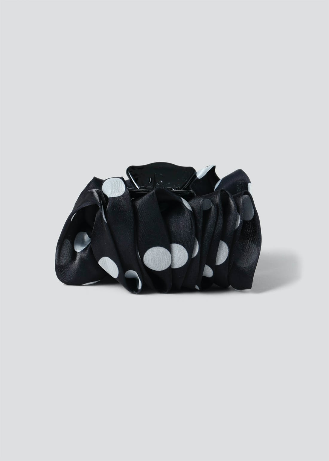 Polka Dot Pleat Hair Clip