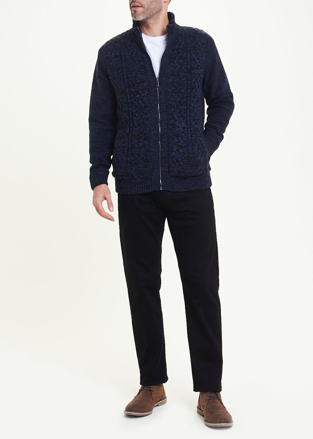 Lincoln Quilted Zip Up Jumper