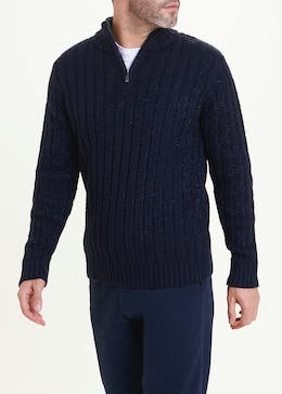 Lincoln Quarter Zip Knit Jumper