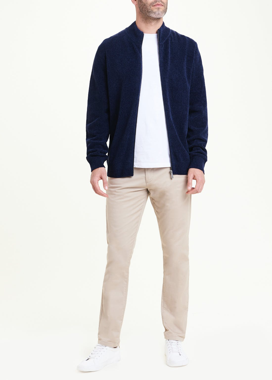 Lincoln Chenille Zip Up Jumper